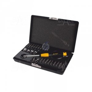 Zestaw narzędzi ESD uchwyt + bity (SL,PH,PZ,TORX,HEX) + nasadki WhirlPower 112-1126