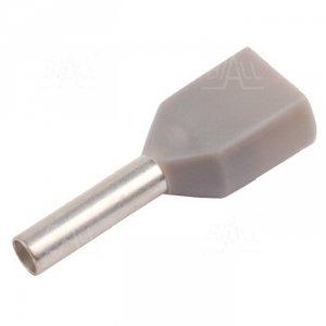 KR007508x2 GY Tulejka izolow. 2x 0,75mm2x8   100szt