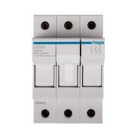 Rozłącznik bezpiecznikowy cylindryczny 3P 10x38mm LS503