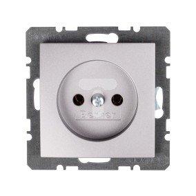 Berker/B.Kwadrat Gniazdo pojedyncze b/u 16A IP20 aluminium 5361038984