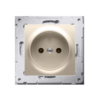 Gniazdo wtyczkowe podjedyncze bez uziemienia z przesłonami torów prądowych do ramek Nature do ramek Premium (moduł) 16A 250V, za