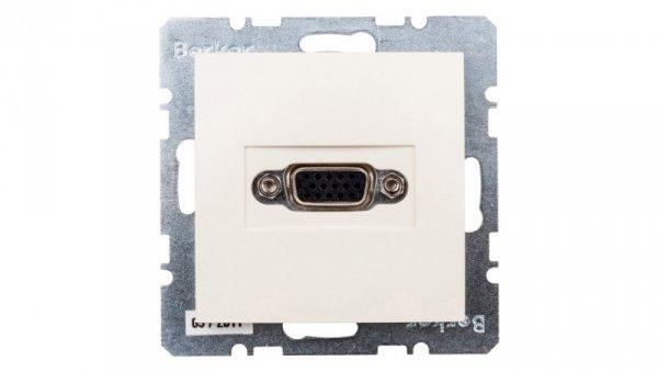 Berker/B.Kwadrat Gniazdo VGA z zaciskami śrubowymi kremowe 3315418982
