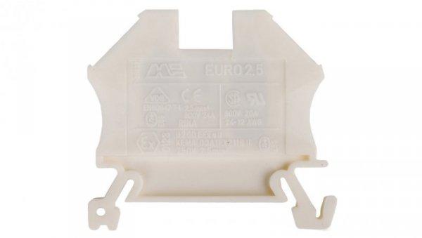 Złączka szynowa 2-przewodowa 2,5mm2 biała EURO 43408WT