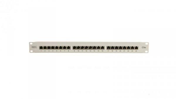 Patch panel kompletny 19 cali 24x RJ45 S/FTP kat. 5e 1U szary (RAL 7035) DN-91524S