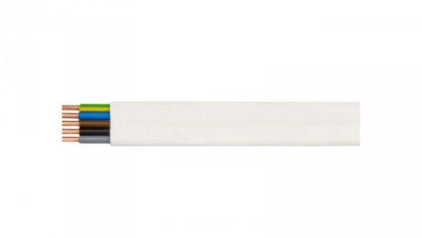 Przewód YDYp 5x6 żo biały 450/750V /100m/
