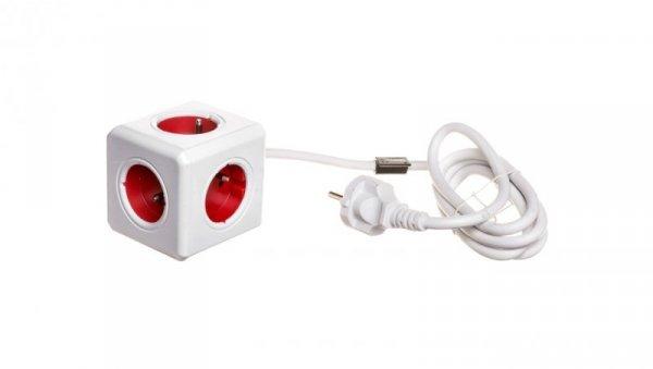 Przedłużacz PowerCube z 5-krotnym gniazdem E/FR 1,5m czerwony 2300/FREXPC