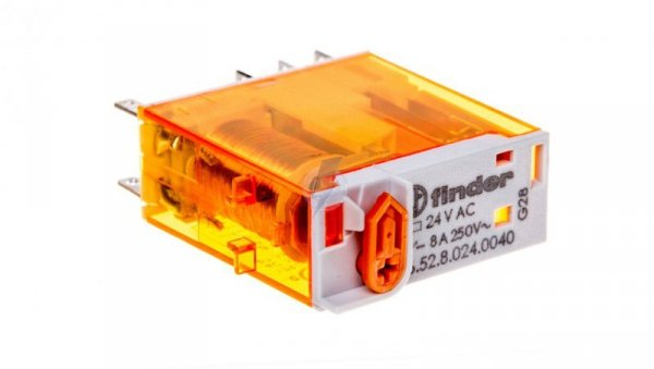 Przekaźnik miniaturowy 2P 8A 24V AC AgNi 46.52.8.024.0040