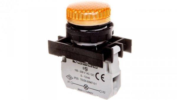 Lampka sygnalizacyjna 100-250V AC/DC żółta T0-B0S0XS