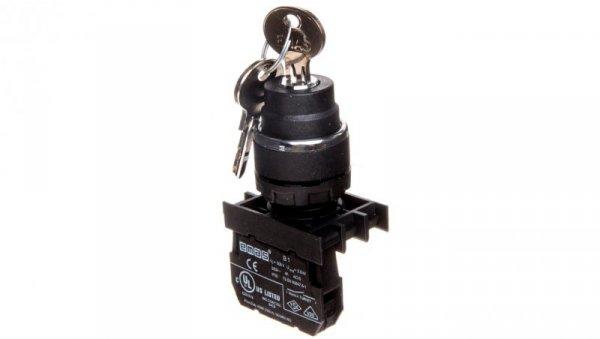 Przycisk sterowniczy 1Z 0R z kluczem z samopowrotem 0-1 T0-B100A21