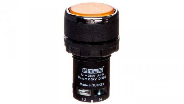 Przycisk sterowniczy monoblok żółty T0-MB100DS