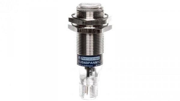 Czujnik fotoelektryczny Sn=0,1m M18 1Z PNP 12-24V DC M12 4-piny odbiciowy XUB4BPANM12