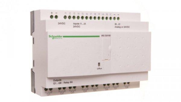 Sterownik programowalny12 wejść8 wyjść 24V DC RTC/LCD Zelio SR2D201BD