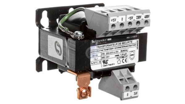 Transformator 1-fazowy 25VA 230(400)V/24V ABL6TS02B