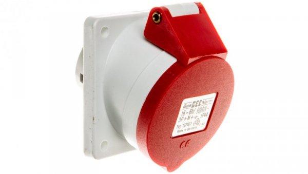 Gniazdo tablicowe 16A 5P 400V 6h IP44 skośne Quick-Connect 122001