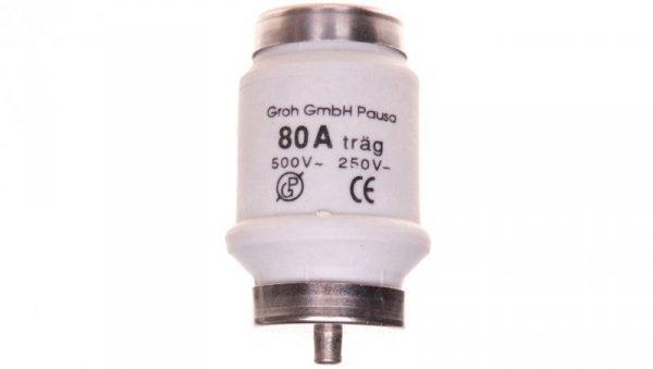 Wkładka bezpiecznikowa D 34x56mm DTIV zwłoczny 80A LDTIV080