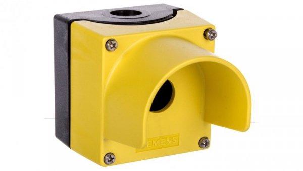 Obudowa kasety 1-otworowa 22mm czarno-żółta z kołnierzem M20 IP69k Sirius ACT 3SU1801-0AA00-0AC2