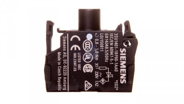 Oprawka z LED biała 230V AC montaż czołowy Sirius ACT 3SU1401-1BF60-1AA0
