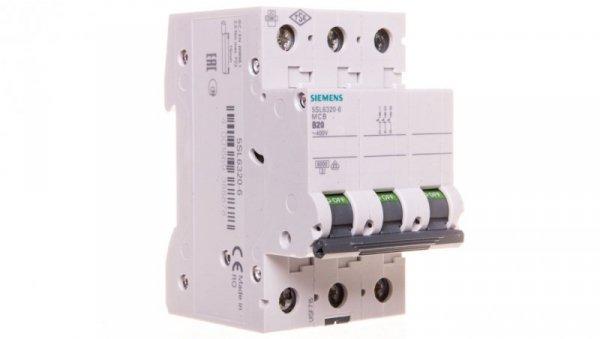Wyłącznik nadprądowy 3P B  20A 6kA AC 5SL6320-6