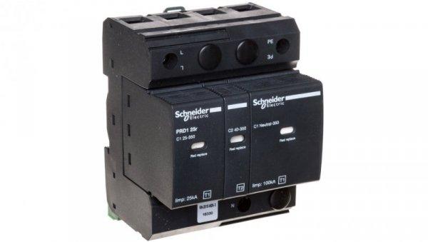 Ochronnik przeciwprzep. PRD1 25r, 1 bieg.+N, 350 V, z sygnalizacją 16330