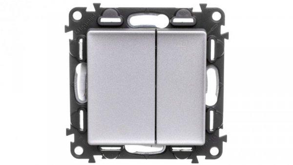 VALENA LIFE Ściemniacz przyciskowy aluminium 752362