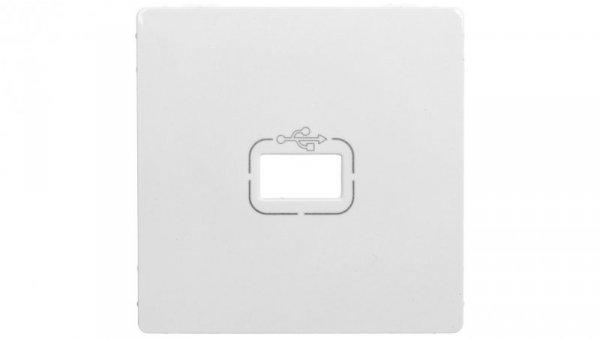 VALENA LIFE Plakietka gniazda USB biały 754750