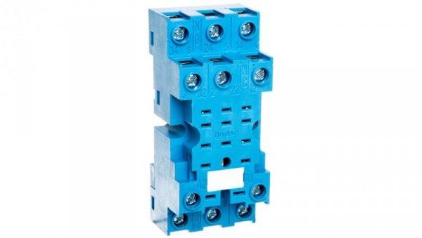 Gniazdo do serii 55.33/85.03 modułów 99.01, zaciski śrubowe, montaż na szynę DIN 35mm (klip metalowy) 94.73SMA
