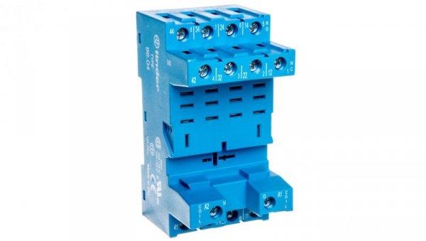 Gniazdo do przekaźników serii 56.34 modułów 99.02, 86.00 i 86.30, zaciski śrubowe, montaż na szynę DIN (klip metalowy) 96.04SMA