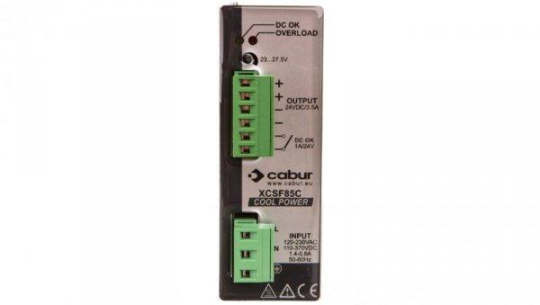 Zasilacz impulsowy jednofazowy 90-264VAC 24VDC 3,5A 85W XCSF85C