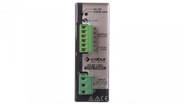 Zasilacz impulsowy jednofazowy 90-264VAC 24VDC 5A 120W XCSF120C