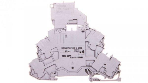Złączka dwupiętrowa bezpiecznikowa z uchylną podstawką bezpiecznika 2002-2611