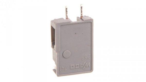 Złączka przepustowa do płytek drukowanych szara raster 5mm 741-904 /100szt./