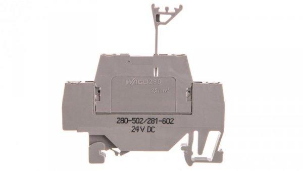 Złączka z diodą tłumiącą 24V DC 280-502/281-602 /50szt./