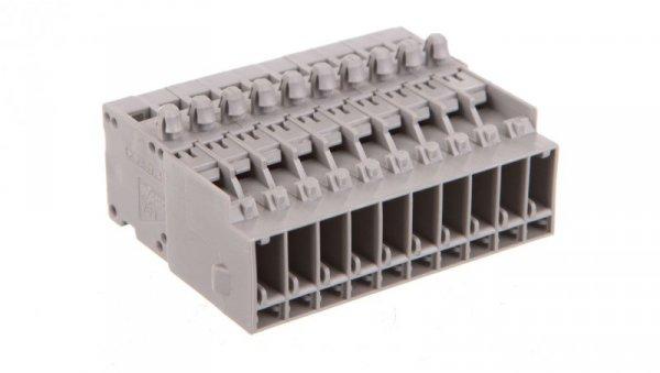 Wtyk X-COM 10-biegunowy szary raster 5mm 769-610/001-000 /25szt./