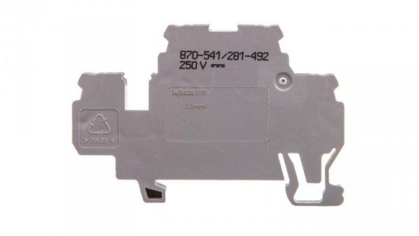 Dwupiętrowa złączka diodowa 2,5mm2 szara 870-541/281-492