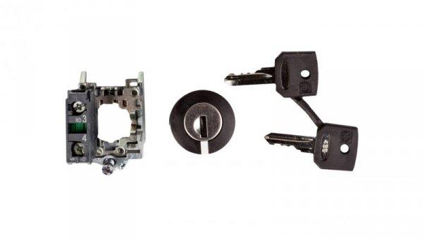 Przełącznik 2 położeniowy klucz 22mm czarny 1Z bez samopowrotu XB4BG21