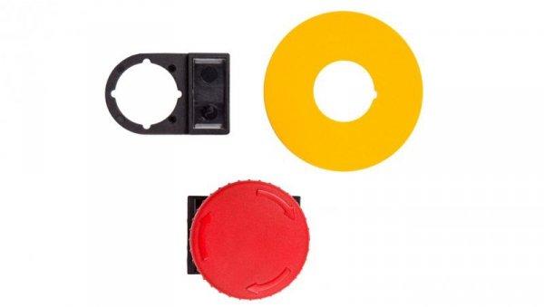 Napęd przycisku grzybkowego czerwony przez obrót W0-N-NEF22-DR/P C