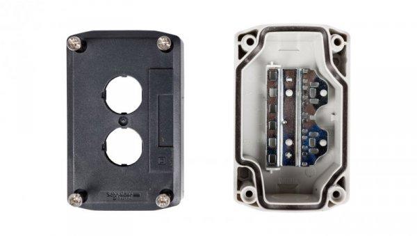 Obudowa kasety 2-otworowa 22mm szara IP65 XALD02