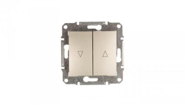 Sedna Łącznik żaluzjowy 2-biegunowy z blokadą mechaniczną 10A satyna SDN1300368