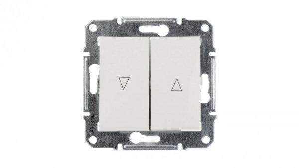 Sedna Przycisk żaluzjowy 2-biegunowy z blokadą elektryczną 10A kremowy SDN1300123