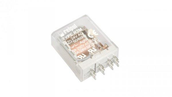 Przekaźnik przemysłowy 2P 5A 24V AC AgNi R2M-2012-23-5024 620485
