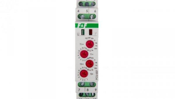 Przekaźnik czasowy 2P 8A 0,1sek-576h 230V AC opóźnione załączenie/wyłączenie - cykliczne PCU-507