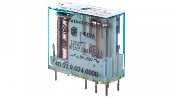 Przekaźnik miniaturowy 2P 8A 24V DC  40.52.9.024.0000