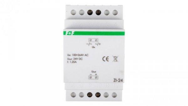 Zasilacz impulsowy 100-264VAC/24VDC 30W 1,25A ZI-24