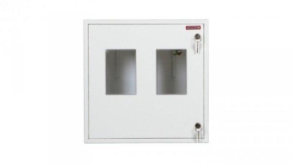 Szafka licznikowa natynkowa/podtynkowa (uniwersalna) 2-licznikowa 3-fazowe IP30 RU-3-2L Z/O