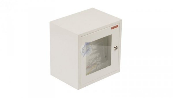 Szafka do wyłącznika p.poż. fi22mm natynkowa/podtynkowa biała RU-PPOz