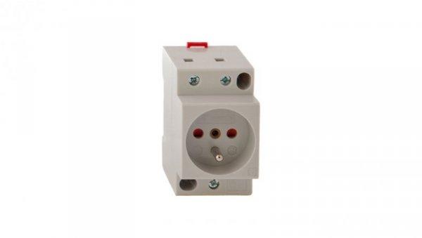 Gniazdo modułowe 2P+Z 16A 250V z przesłonami na szynę Z-SD230-BS 266876