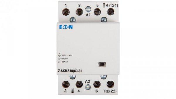 Stycznik modułowy 63A 3Z 1R 230V AC Z-SCH230/63-31 248858