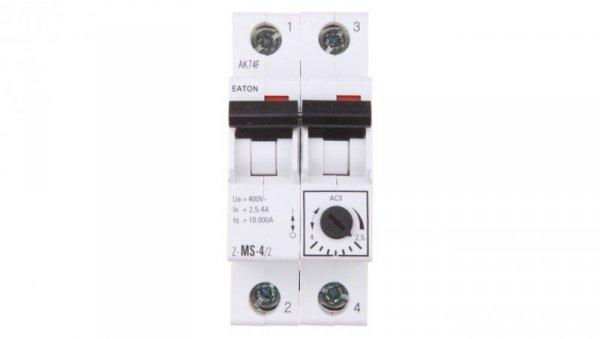 Wyłącznik silnikowy 2P 1,5kW 2,5-4A Z-MS-4,0/2 248396