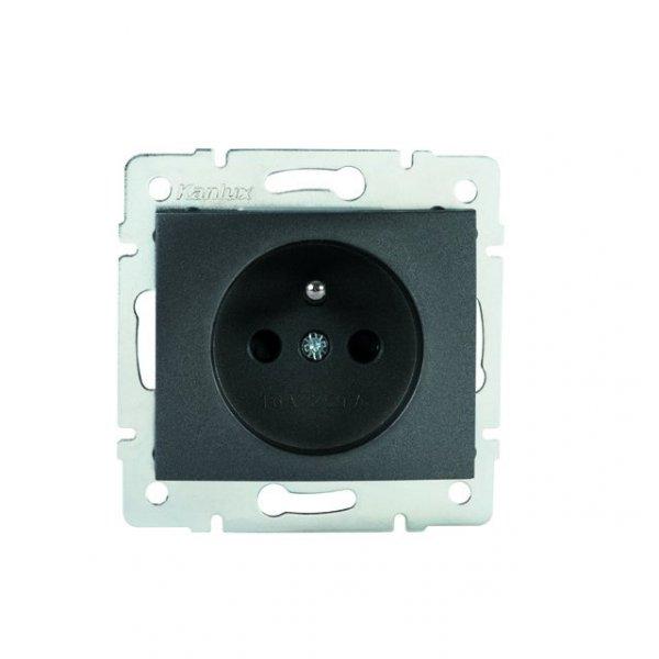 Gniazdo zasilające pojedyncze, francuskie, ochrona styków DOMO 01-1250-241 gr 27189