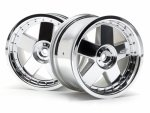 GT 5 WHEEL CHROME (83X56MM/2PCS)